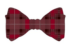 UChicago Uncommon Collection Tartan Bow Tie
