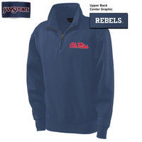 Ole Miss Jansport 1/4 Zip Pullover