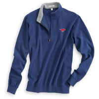 Peter Millar Melange Fleece Quarter Zip