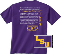LSU Tigers New World Graphics Attitude TShirt