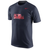 Nike Ole Miss Logo Cotton Tee