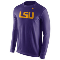 Nike Cotton Wordmark Long Sleeve Tee