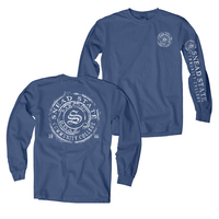 Blue 84 Long Sleeve Garment Dyed Long Sleeve T Shirt
