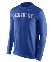 Nike College Wordmark Long Sleeve Cotton