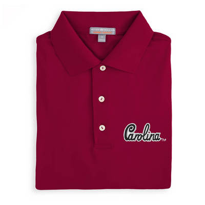Peter Millar South Carolina Script Solid Stretch Polo
