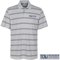 Embossed Striped Polo
