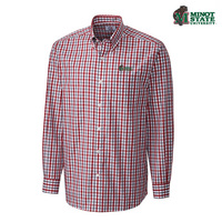 Cutter and Buck Grant Plaid Woven Long Sleeve Shirt