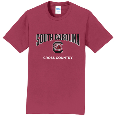 South Carolina Gamecocks Cross Country Short Sleeve Tee
