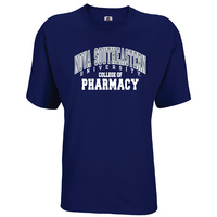 Russell Athletic Mens Cotton College of Pharmacy  Tee