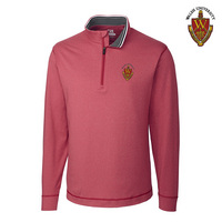 Cutter & Buck DryTec Long Sleeve Topspin Half Zip Knit