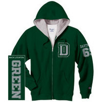 Champion Full Zip Dartmouth Big Green Hoodie