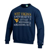 WVU Mountaineers Champion Crew Sweatshirt