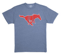SMU Mustangs League Tri-Blend T-Shirt