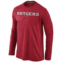 Nike Rutgers Wordmark Long Sleeve Cotton Tee