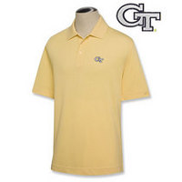 Georgia Tech Cutter & Buck Drytec Pique Polo