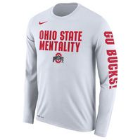 Nike Ohio State Long Sleeve Mentality Tee