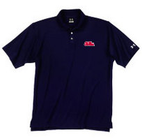 Ole Miss Under Armour Heat Gear Loose Fit Team Polo