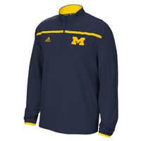Adidas Sideline Long Sleeve Knit Quarter Zip Pullover