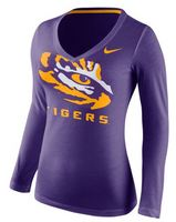 Nike College Womens Long Sleeve Mid V Logo