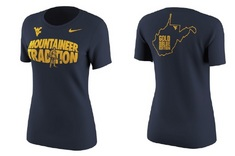 Nike WVU Womens Short Sleeve Tee