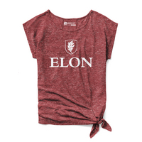 Red Shirt Athleisure Side Tie T Shirt