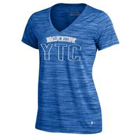 Womens Tech V Neck Short Sleeve