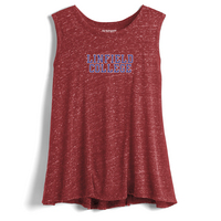Red Shirt Draped Muscle Tank