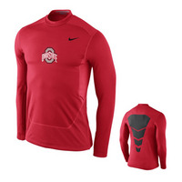 Nike Ohio State Hyperwarm Fitted Shield Max