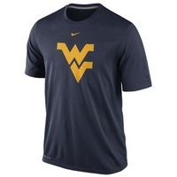 Nike WVU Dri Fit Logo Short Sleeve Legend Tee