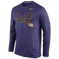 Nike LSU DNA Legend Long Sleeve Crew