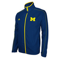 MICHIGAN ADIDAS SIDELINE LIGHTWEIGHT JACKET