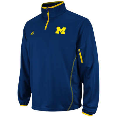 MICHIGAN ADIDAS COACHES 14 ZIP