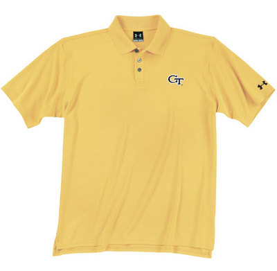 Georgia Tech Under Armour Heat Gear Loose Fit Team Polo