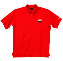 SMU Mustangs Under Armour Heat Gear Loose Fit Team Polo