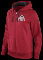 Nike  Ohio State  Womens Sideline Scoop Full Zip Hoody