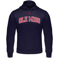 Ole Miss Under Armour Cold Gear Loose Fit Hoodie