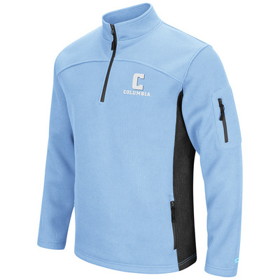 Mens Heavy Corded Fleece Quarter Zip Pullover
