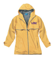 LSU Tigers Charles River Womens Wind and Waterproof Rain Jacket