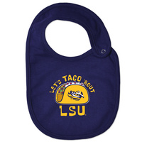 LSU Tigers College Kids InfantToddler Bib