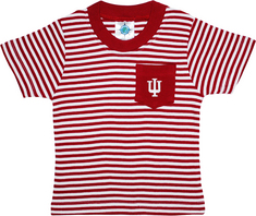 Toddler Stripe Short Sleeve Pocket Tee