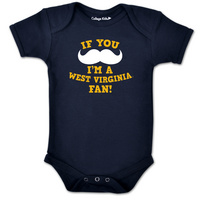 WVU Mountaineers College Kids Infant Bodysuit