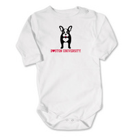 Boston Terriers College Kids Infant Long Sleeve Bodysuit