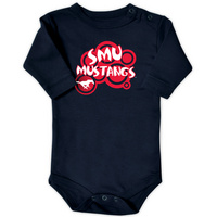 SMU Mustangs College Kids Infant Long Sleeve Bodysuit