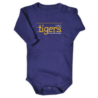 LSU Tigers College Kids Infant Long Sleeve Bodysuit