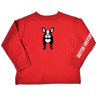 Boston Terriers College Kids Toddler Long Sleeve TShirt