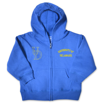Delaware Blue Hens College Kids Infant Full Zip Hoodie
