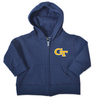 Georgia Tech College Kids Infant Full Zip Hoodie