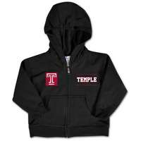 Temple College Kids Infant Full Zip Hoodie