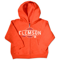 Clemson Tigers College Kids Toddler Full Zip Hoodie