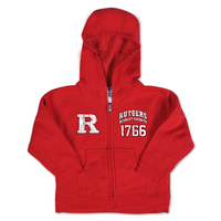 Rutgers Scarlet Knights College Kids Toddler Full Zip Hoodie
